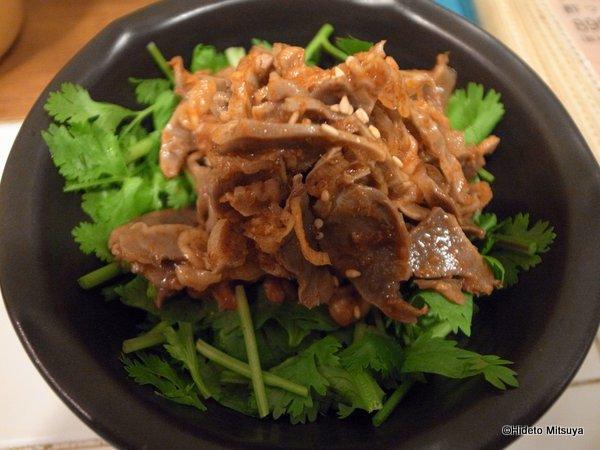 パクチーハウスの料理「トムヤム砂肝」
