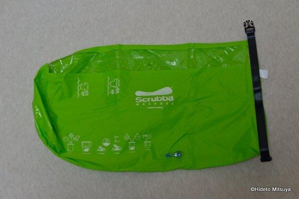 旅行用洗濯袋 Scrubba Washbag スクラバ ウォッシュバッグ広げたところ