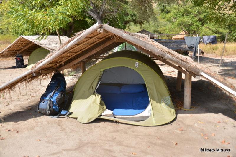 カナワビーチリゾートのテント