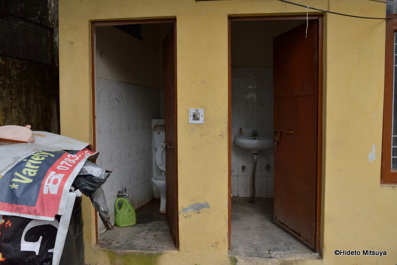 マクロードガンジのビクトリアハウス共同バス・トイレ