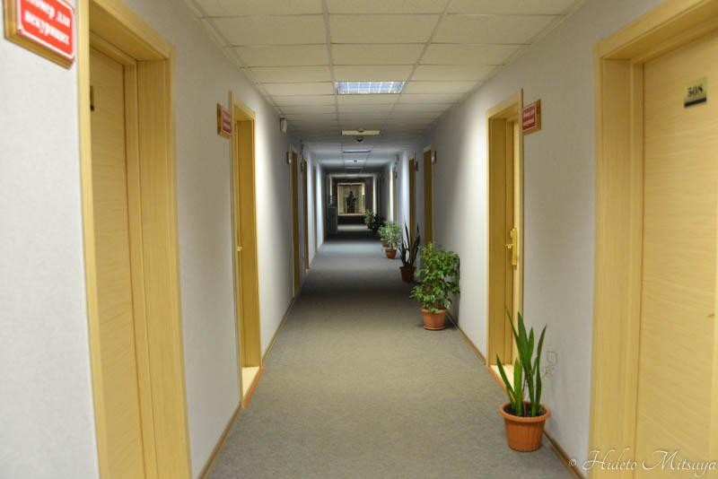 ウスリースクホテル廊下