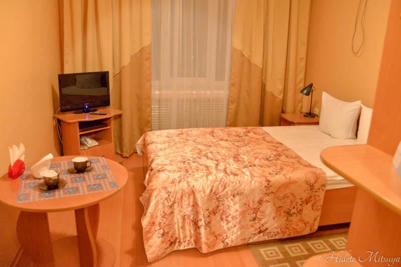 ウスリースクホテル室内・ベッド