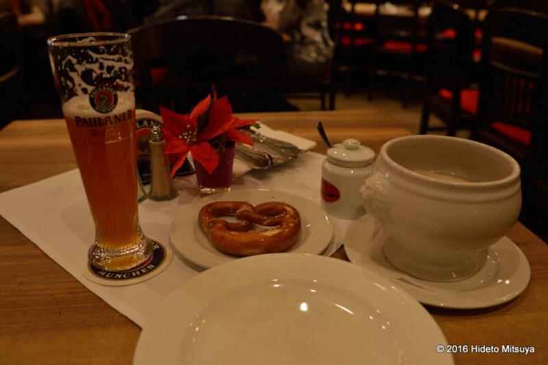 ミュンヘンの伝統的な朝食
