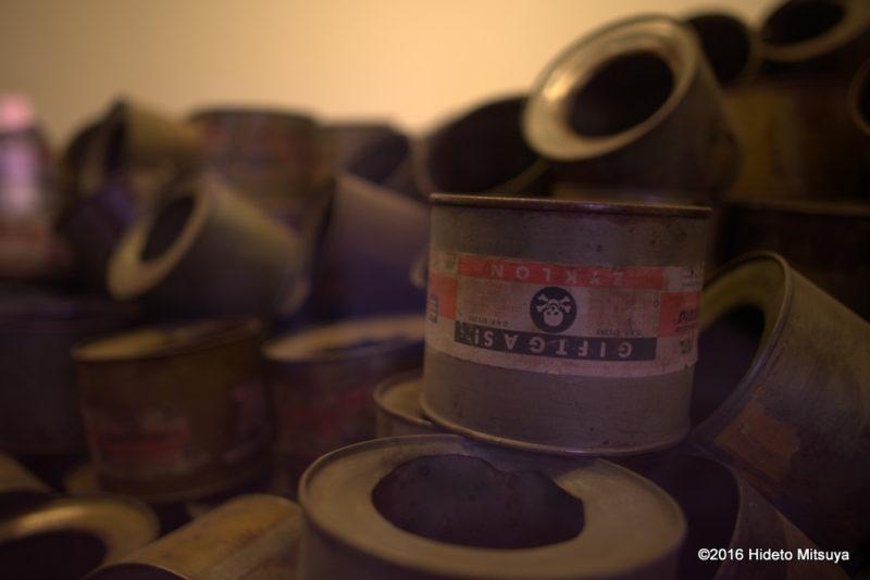 アウシュヴィッツ強制収容所で使われた毒ガス「チクロンB」の空き缶
