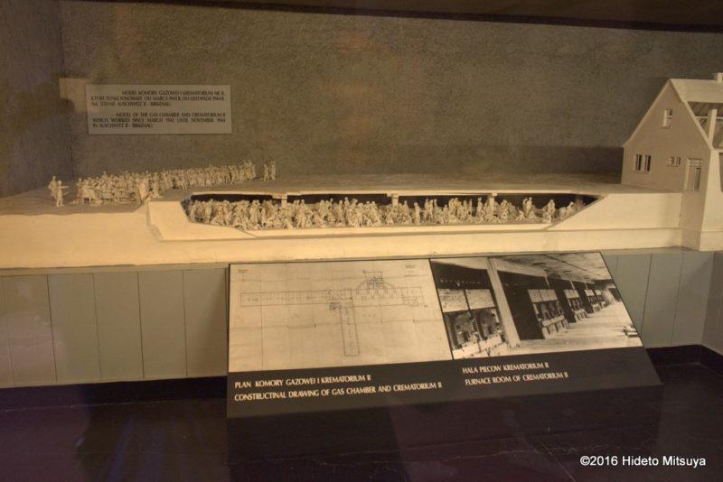 アウシュヴィッツ強制収容所ガス室の模型2