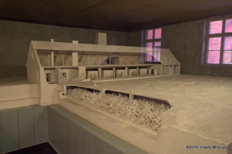 アウシュヴィッツ強制収容所ガス室の模型3
