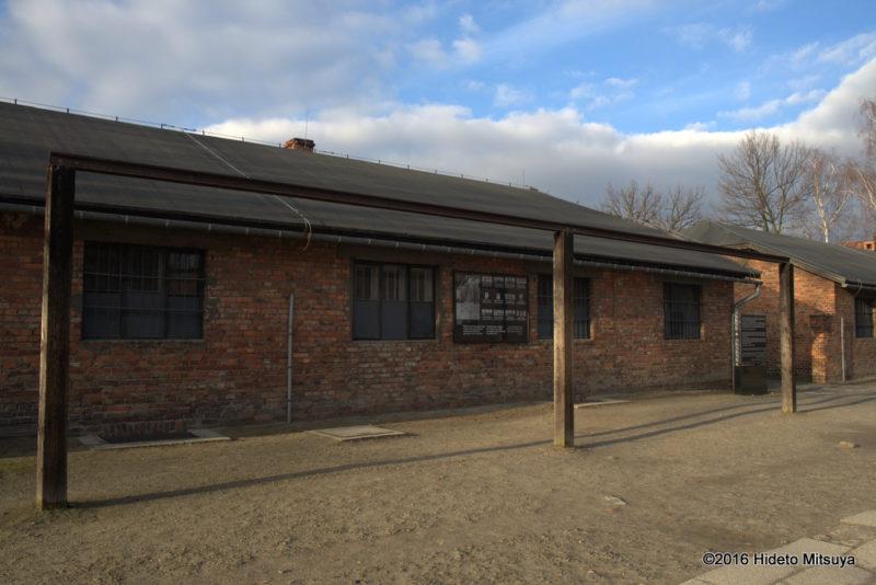 アウシュヴィッツ強制収容所内の被収容者のための絞首刑台