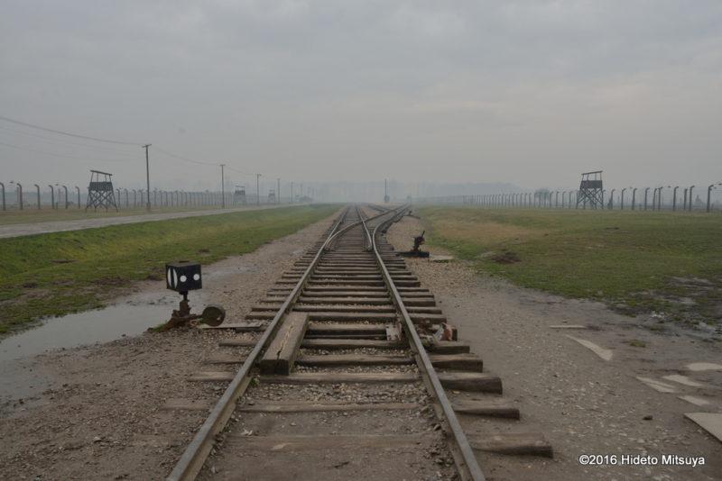 ビルケナウ第二強制収容所内の線路