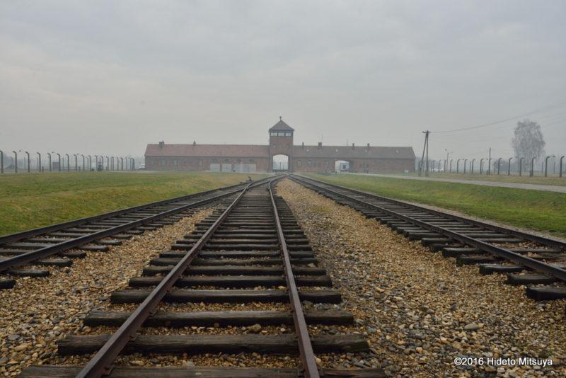 ビルケナウ第二強制収容所の鉄道引き込み線