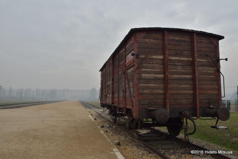 ビルケナウ第二強制収容所に残されていた貨車