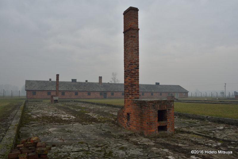 ビルケナウ第二強制収容所被収容者のバラックの廃墟