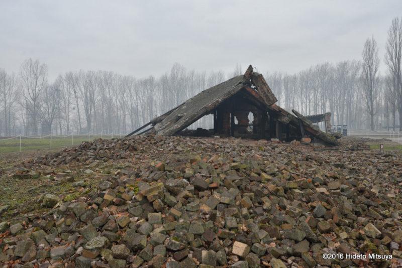 ビルケナウ第二強制収容所の破壊されたガス室(クレマトリウム)2