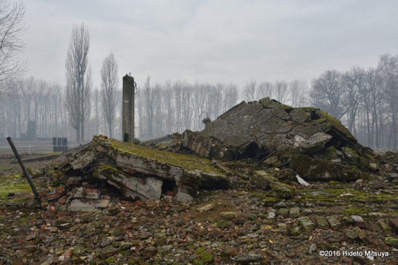 ビルケナウ第二強制収容所破壊されたクレマトリウムのガス室部分