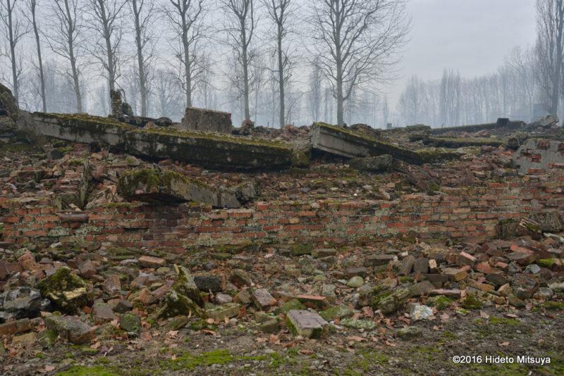 ビルケナウ第二強制収容所破壊されたガス室(クレマトリウム)