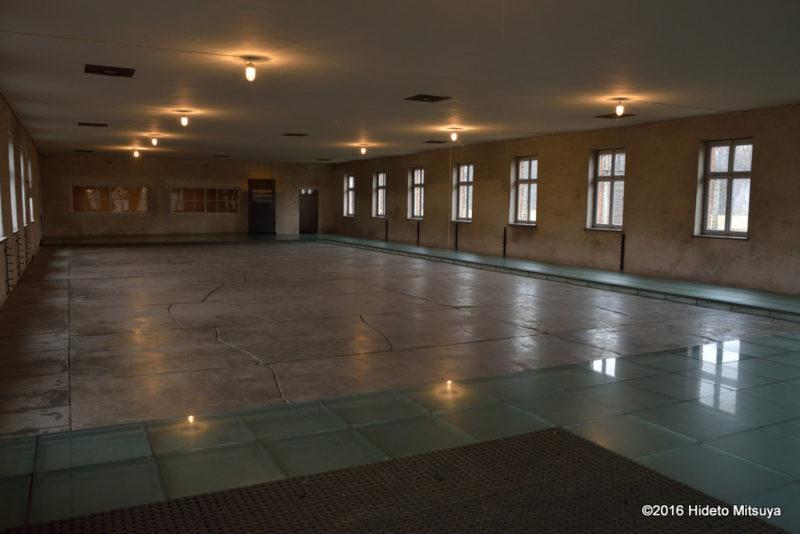 ビルケナウ第二強制収容所の博物館内部の様子
