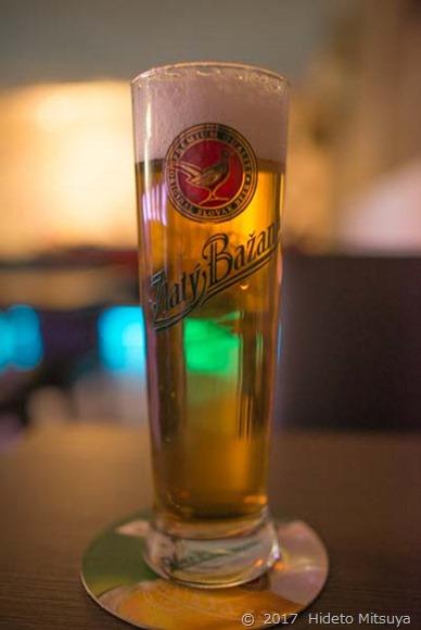 ウェルカムドリンクのビール