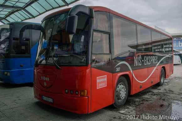 ニーシュ行バス