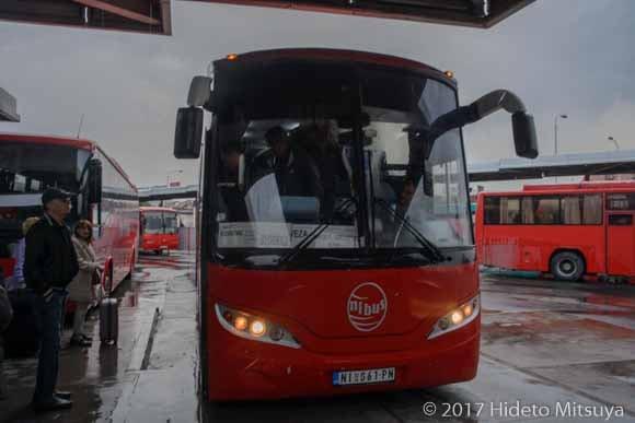 ベオグラード行バス