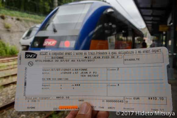 サン・ジャン・ピエ・ド・ポーへの切符