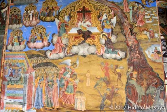 修道院のフラスコ画