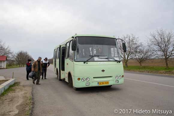 コムラトへ戻るバス