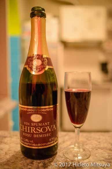 キルソヴァの赤スパークリングワイン