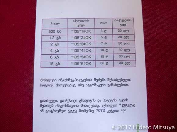 データ通信料金表