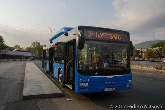 トビリシ空港行バス乗り場