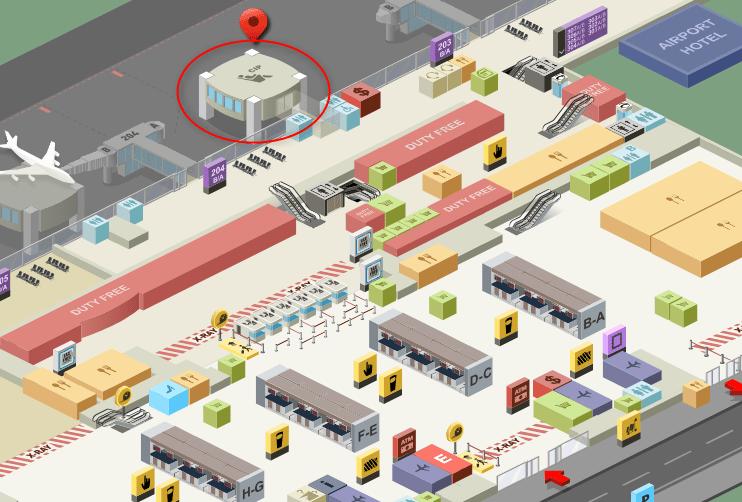 サビハ・ギョクチェン空港ラウンジ地図