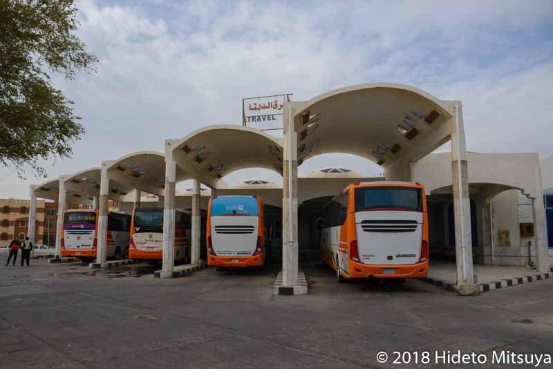 ダハブのEast Deltaバスターミナル