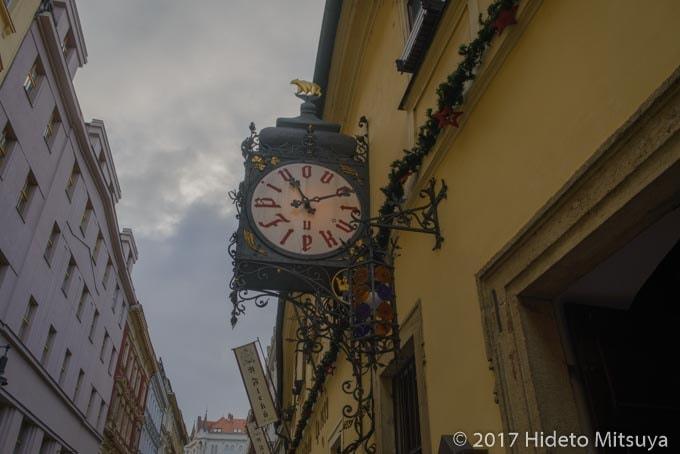 チェコ数字の時計