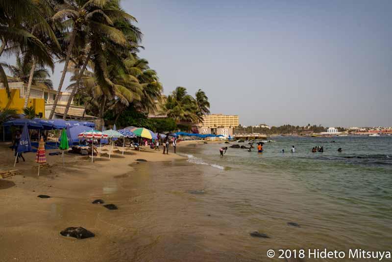 セネガルの隠れたリゾート地ンゴール島のビーチ