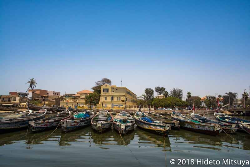 セネガルの世界遺産サンルイ島の街並み