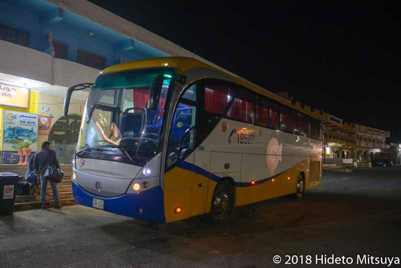 カイロ行きGo Bus車体