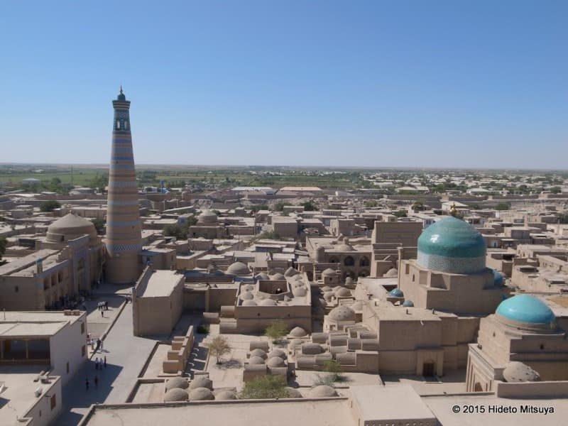 イスラーム・ホジャのミナレットからの景色