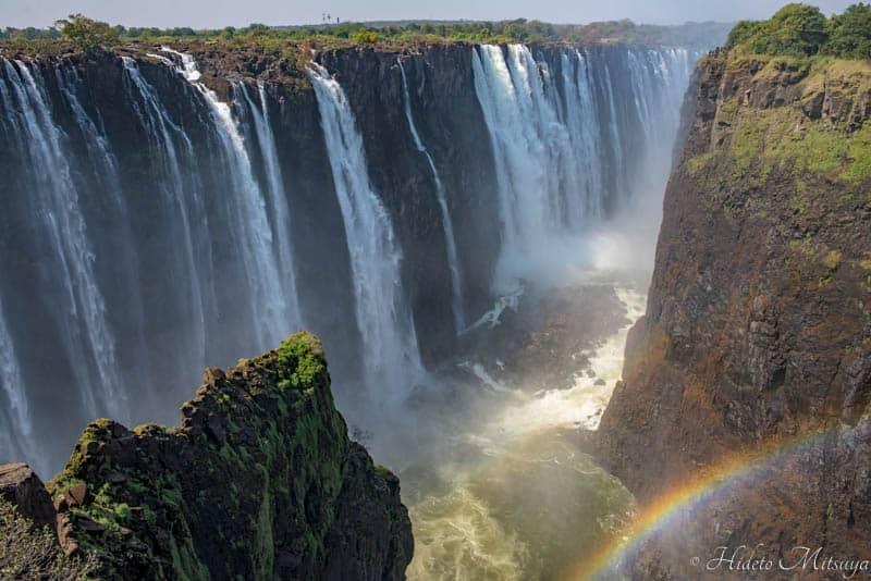 ジンバブエ側から見るビクトリアの滝
