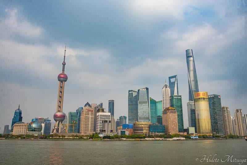 上海浦東地区のの高層ビル群