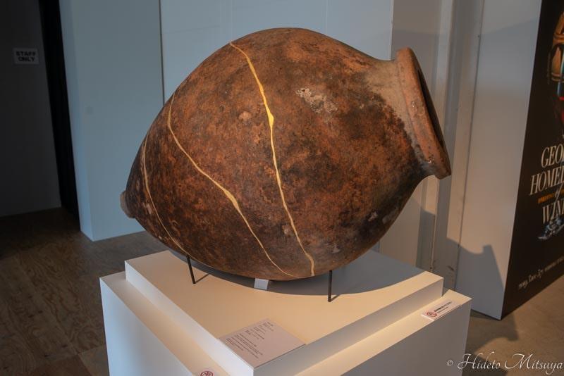 ジョージアワイン展で展示されていた土器
