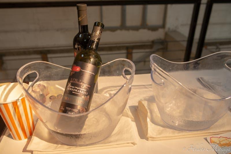 ジョージアワイン展での試飲用キンズマラウリ