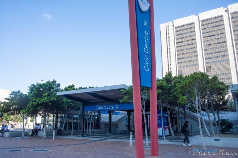 ケープタウン国際空港行きバス乗り場シビックセンター