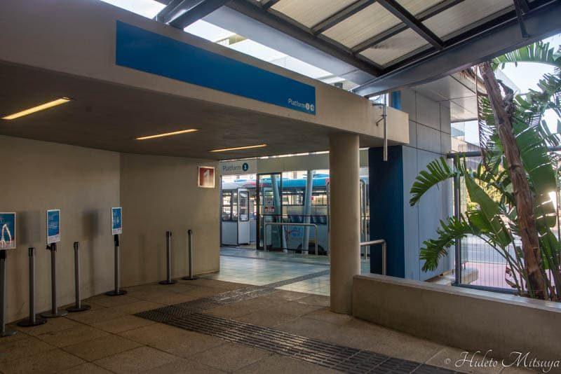 ケープタウン国際空港行きバス乗り場