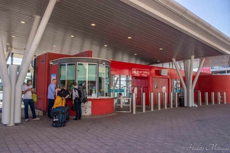 ケープタウン国際空港からの市内行きバスチケット売り場