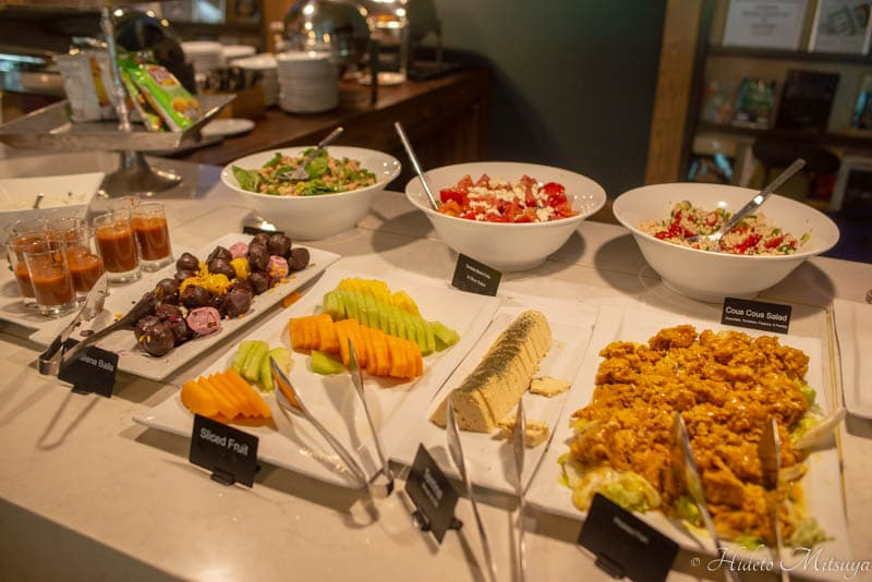 ケープタウン国際空港のBIDVEST PREMIER LOUNGEの食事類