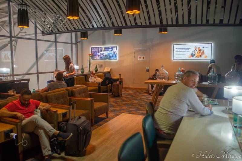 ケープタウン国際空港のBIDVEST PREMIER LOUNGE内部の様子