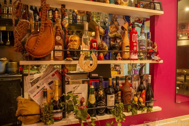 カフェロシア店内の装飾