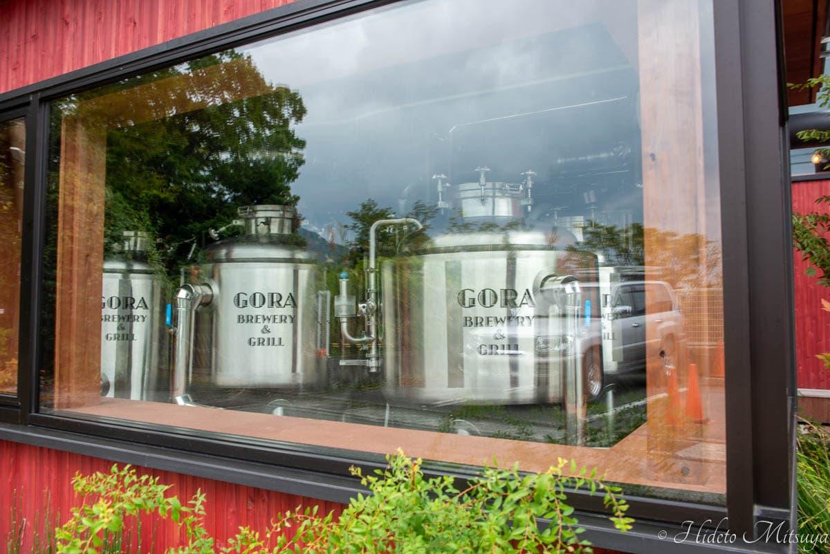 強羅ブリュワリーの醸造タンク