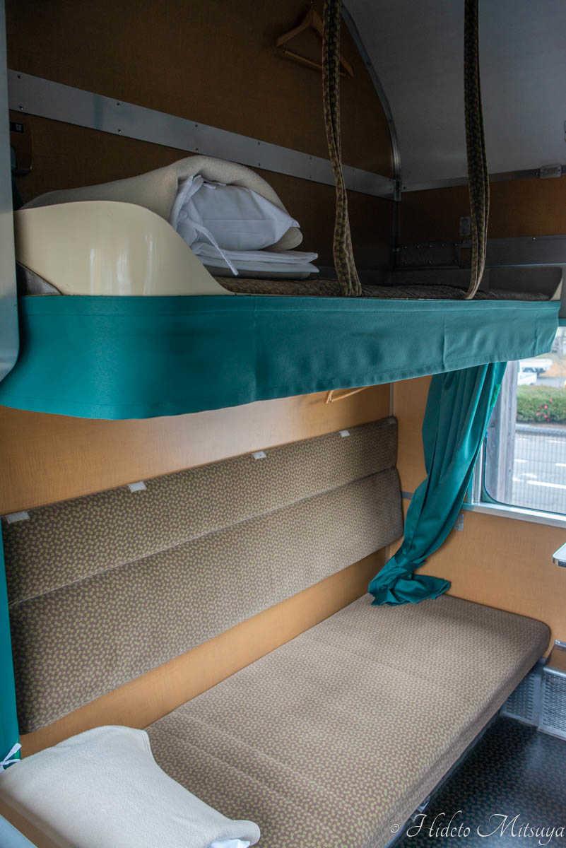 ブルートレインたらぎ開放寝台座席3