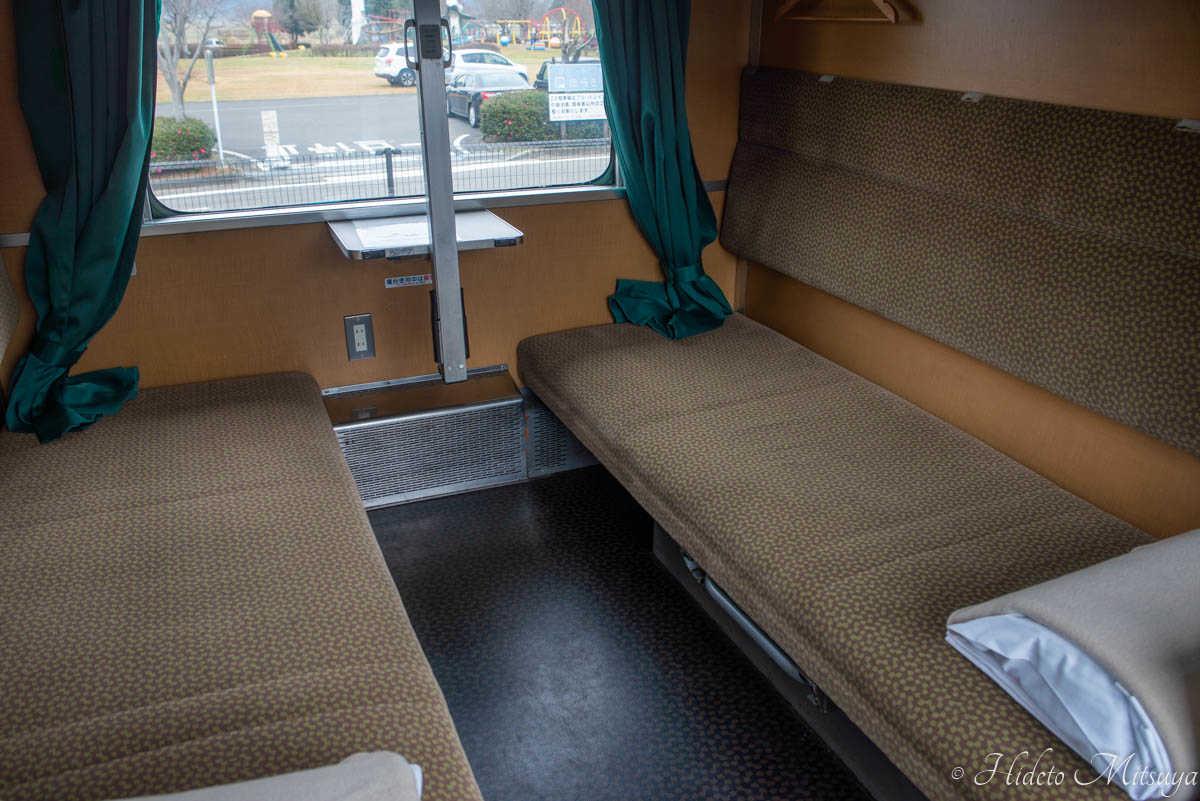 ブルートレインたらぎ開放寝台座席2