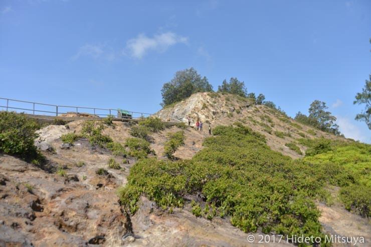 クリムトゥ山の岸壁