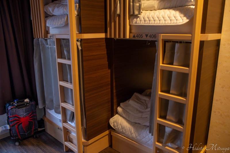 Hostel East57のドミトリー室内